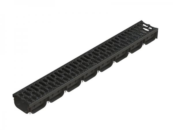 Лоток S'Park пластиковый с чугунной решеткой 1000х125х72 (комплект)