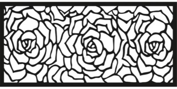 Полотно забора Розы