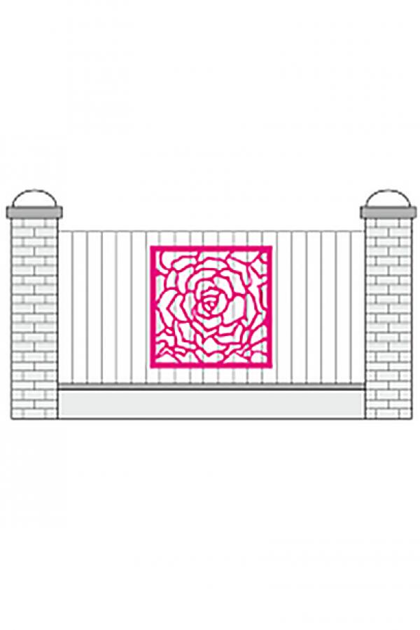 Накладка на забор Розы