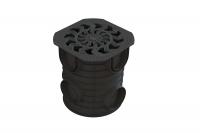 Комплект: Дождесборник S'park ДС-25-ПП круглый пластиковый с решеткой водоприемной плаcтиковой