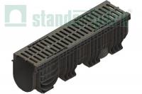 Лоток водоотводный пластиковый Polymax Basic с щелевой решеткой 0856033 (комплект)