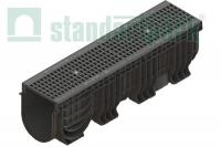 Лоток водоотводный пластиковый Polymax Basic с яч. решеткой 0856043 (комплект)