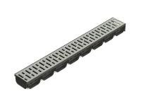 Лоток S'Park пластиковый с стальной оцинкованной решеткой 1000х125х72 (комплект)