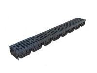 Лоток S'Park пластиковый с пластиковой решеткой 1000х125х72 (комплект)