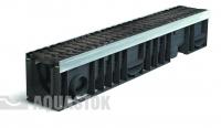 Лоток водоотводный пластиковый ЛВП PROFI DN100 H170 E600 комплект