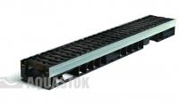 Лоток водоотводный пластиковый ЛВП PROFI DN100 H90 E600 комплект