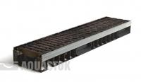 Лоток водоотводный пластиковый ЛВП PROFI DN150 H97 E600 комплект