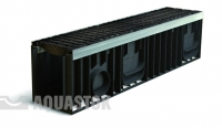 Лоток водоотводный пластиковый ЛВП PROFI DN150 H247 E600 комплект