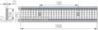 Водоотводная решётка стальная ячеистая DN150 оцинкованная