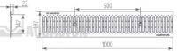 Водоотводная решётка стальная щелевая DN150 нержавеющая