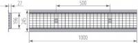Водоотводная решётка стальная ячеистая DN200 оцинкованная