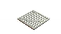 Решетка водоприемная Basic РВ-28.28 штампованная стальная оцинкованная «вершина»