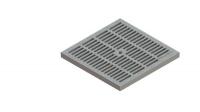 Решетка водоприемная PolyMax Basic РВ-28.28-ПП пластиковая ячеистая серая
