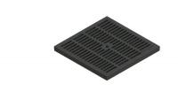 Решетка водоприемная PolyMax Basic РВ-28.28-ПП пластиковая ячеистая черная