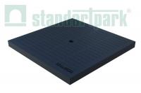 Крышка к дождеприемнику PolyMax Basic К-28.28-ПП пластиковая черная 3389-Ч