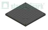 Крышка PolyMax Basic К-39.39-ПП пластиковая черная к дождеприемнику