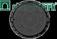 Люк садовый пластиковый черный «Лого»