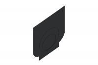 Заглушка торцевая пластиковая ЗЛВ-20.26.30-ПП для лотка водоотводного пластикового