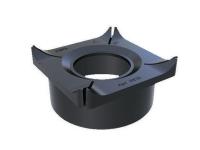 Патрубок для вертикального подключения трубы (110 мм), для лотков S'Park DN 100 110х110х40