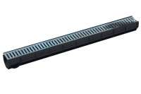 Лоток S'Park пластиковый с стальной оцинкованной решеткой 1000х90х91 (комплект)